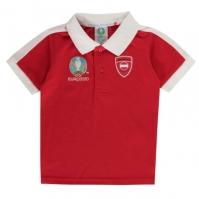 Tricouri polo UEFA Euro 2020 Austria pentru Copil rosu