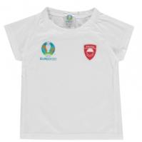 Tricou UEFA Polonia Core UEFA Polonia Core pentru baietei baietei alb
