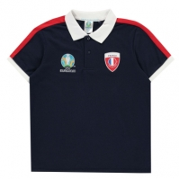 Tricouri Polo UEFA Franta pentru baietei bleumarin