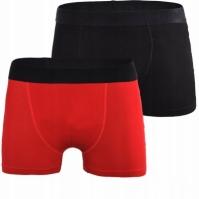 Set 2 perechi boxeri negru/rosu Puma Basics Barbat rosu negru