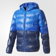 Geaca adidas albastra YB SD BTS CF1605 baieti
