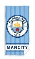 Prosop bumbac fotbal Manchester City 75 x 150 cm