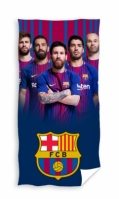 Prosop de plaja fotbal FC Barcelona bumbac 70 x 140 cm