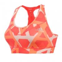 Bustiera portocalie adidas Techfit Triax Print Dama