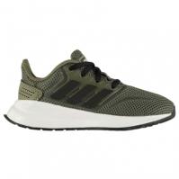 Adidasi sport adidas Falcon pentru Copil kaki negru alb