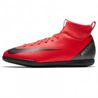 Adidasi fotbal de sala Nike Mercurial Superfly Club DF pentru Copil rosu inchis negru
