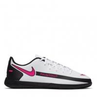 Adidasi fotbal de sala Nike Phantom GT Club pentru Copil alb pinkblast