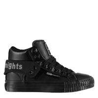Adidasi inalti British Knights Roco PU Lace pentru Copil negru