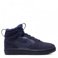 Adidasi inalti Nike Court Borough Mid 2 baieti albastru inchis