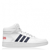 Adidasi pentru Baschet adidas Hoops 2.0 Mid pentru Barbat alb bleumarin rosu