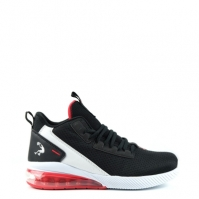 Adidasi pentru baschet SHAQ Analog pentru Copil negru alb rosu