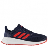 Adidasi sport adidas Falcon pentru Copil bleumarin rosu alb