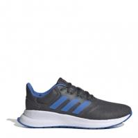 Adidasi sport adidas Falcon pentru Copil gri inchis albastru alb