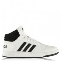 Adidasi sport adidas Hoops 2.0 Mid pentru Barbat alb negru