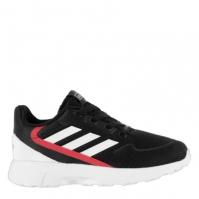 Adidasi sport adidas Nebular Zed baietei negru alb rosu