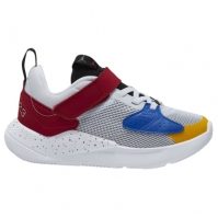 Adidasi sport Air Jordan Cadence baieti alb albastru roial rosu