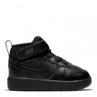 Nike Court Borough Mid 2 / Shoe pentru Bebelusi pentru Bebelusi negru
