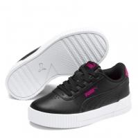 Adidasi sport Puma Carina din piele pentru fetite negru roz