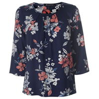 Bluza cu model imprimeu M Collection pentru Dama bleumarin crem