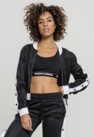 Bluza de trening cu nasturi pentru Dama negru-alb Urban Classics