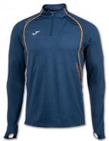 Bluza de trening Joma 1/2 cu fermoar alergare bleumarin