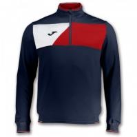 Bluze de trening Joma Crew II bleumarin-rosu