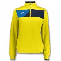 Bluza de trening Joma Crew II galben-bleumarin pentru Dama