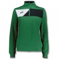 Bluza de trening Joma Crew II verde-negru pentru Dama