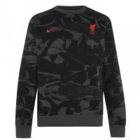 Bluza de trening Nike Liverpool cu guler rotund pentru Barbat gri inchis