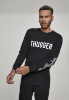 Bluza maneca lunga Thugger Snake Sword negru Merchcode