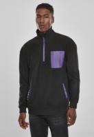 Bluza polar contrast negru-violet Urban Classics