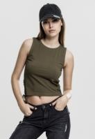 Bluza scurta cu siret pentru Dama oliv Urban Classics