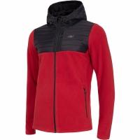 Bluze Barbat 4F rosu-negru H4Z19 PLM004 20S