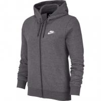 Bluze Hanorac Nike Sportswear Full-cu fermoar pentru Dama gri