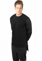 Bluza lunga cu fermoar piele ecologica Urban Classics