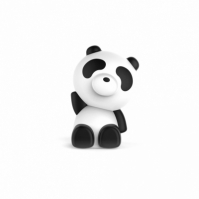 Boxa Portabila Luminoasa Bluetooth Panda Bigben, 33 Cm
