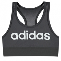 Bustiera sport adidas Xperior Light Support pentru fete inchis gri