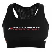 Bustiera sport Tommy Sport Tommy imprimeu Graphic pvh negru