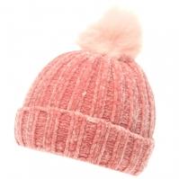 Caciula Crafted Essentials Chenille Child pentru fete roz