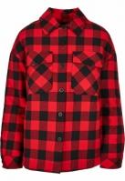 Camasa Flanell cu captuseala pentru Dama negru-rosu Urban Classics