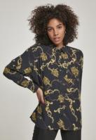 Camasa oversize vascoza pentru Dama luxury-negru Urban Classics