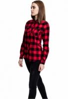 Camasi bumbac urban dama negru-rosu Urban Classics