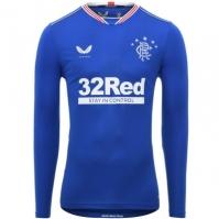 Camasi cu maneca lunga Castore Rangers Acasa 2020 2021 albastru