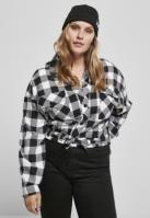 Camasi sport Short supradimensionat pentru Dama negru-alb Urban Classics