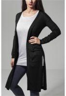 Cardigan lung Fine tricot pentru Dama negru Urban Classics