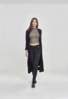 Cardigan lung tricot pentru Dama negru Urban Classics
