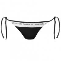 Chiloti costum de baie Calvin Klein Calvin Logo String pvh negru
