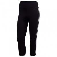 Colanti adidas Design 2 Move 3 Stripes trei sferturi antrenament pentru Dama negru