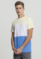 Color Block Tee albastru-rosu Urban Classics horizon galben alb