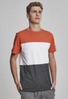 Color Block Tee gri-carbune Urban Classics portocaliu alb
